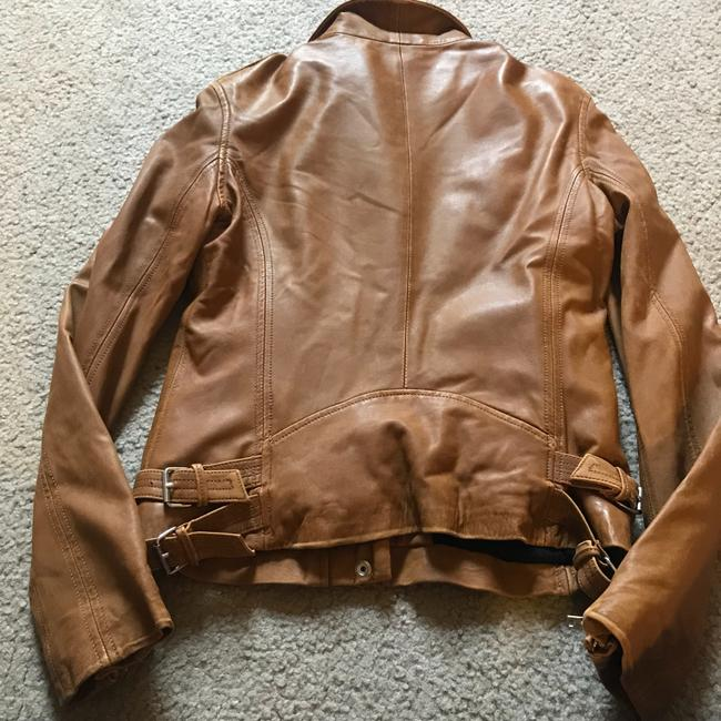 IRO brown camel tan Leather Jacket Image 6