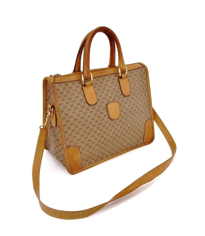 2468e1ed4d33 Gucci Vintage 2-way Tote Brown Supreme Micro Gg Monogram Canvas ...
