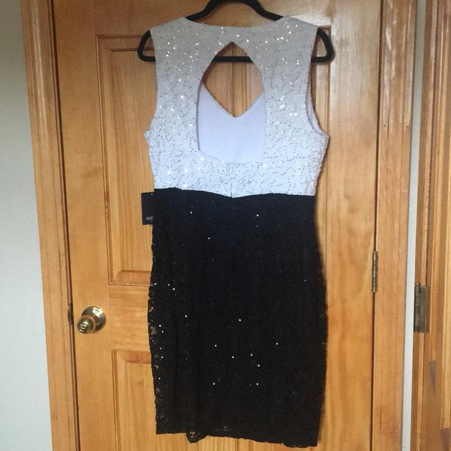Marina Black / White And Sequin and Lace Sheath Short Night Out Dress Size 16 (XL, Plus 0x) Marina Black / White And Sequin and Lace Sheath Short Night Out Dress Size 16 (XL, Plus 0x) Image 6