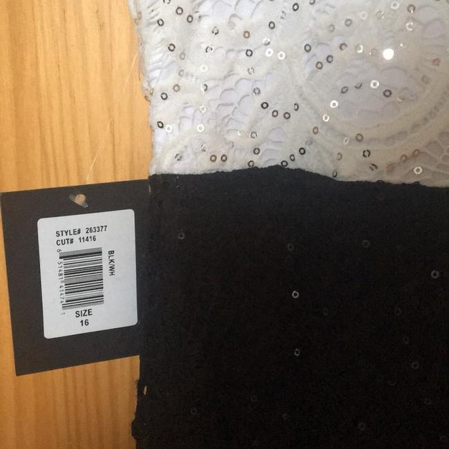 Marina Black / White And Sequin and Lace Sheath Short Night Out Dress Size 16 (XL, Plus 0x) Marina Black / White And Sequin and Lace Sheath Short Night Out Dress Size 16 (XL, Plus 0x) Image 7