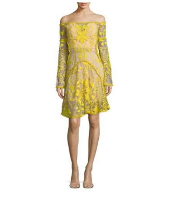 Preload https://img-static.tradesy.com/item/24948871/thurley-jellow-women-s-marigold-embroidered-off-the-shoulder-short-cocktail-dress-size-petite-10-m-0-0-650-650.jpg