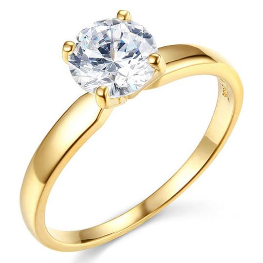 Preload https://img-static.tradesy.com/item/24948879/yellow-gold-1-ct-round-cut-4-prong-solitaire-cz-engagement-in-14k-ring-0-0-540-540.jpg