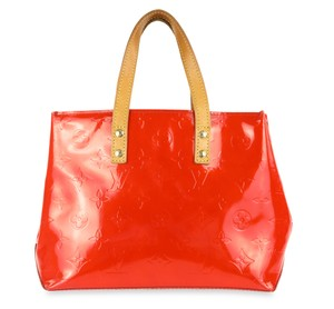 Louis Vuitton Tote Patent Leather Satchel in Red
