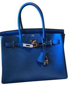 Hermès Birkin Birkin Fashion Satchel in Blue Zanzibar