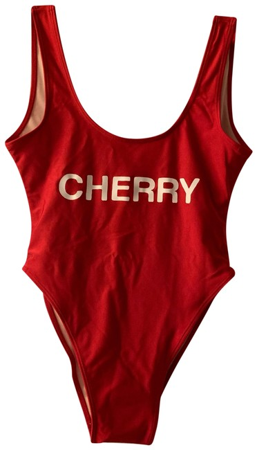"""Item - Red """"cherry"""" One-piece Bathing Suit Size 2 (XS)"""