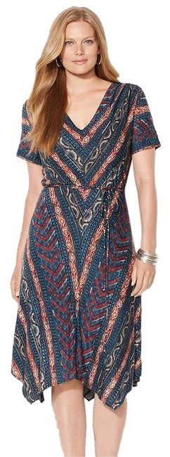 Preload https://img-static.tradesy.com/item/24949004/lauren-ralph-lauren-blue-multi-southwestern-viscose-jersey-handkerchief-hem-2x-short-casual-dress-si-0-2-650-650.jpg