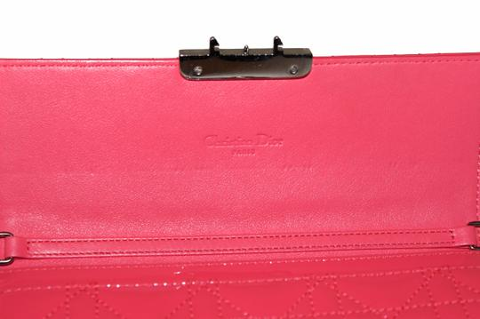 Dior Christian Dior Coral Pink Patent Cannage Miss Dior Rendezvous Wallet Image 10