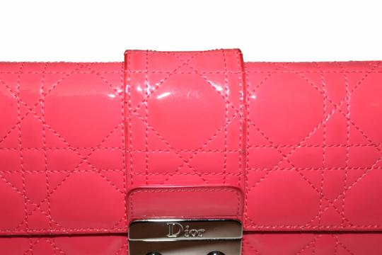 Dior Christian Dior Coral Pink Patent Cannage Miss Dior Rendezvous Wallet Image 2