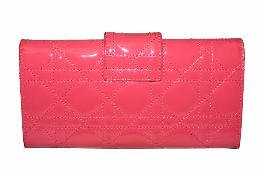 Dior Christian Dior Coral Pink Patent Cannage Miss Dior Rendezvous Wallet Image 3