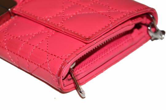 Dior Christian Dior Coral Pink Patent Cannage Miss Dior Rendezvous Wallet Image 4