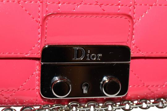 Dior Christian Dior Coral Pink Patent Cannage Miss Dior Rendezvous Wallet Image 6