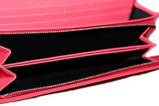Dior Christian Dior Coral Pink Patent Cannage Miss Dior Rendezvous Wallet Image 9
