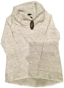 Cupio Knit Open Knit Heather Cable Knit Sweater