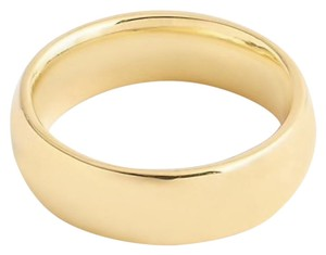 J.Crew J.CREW 14K GOLD 6MM ROUNDED BAND SIZE 7 YELLOW GOLD B3102