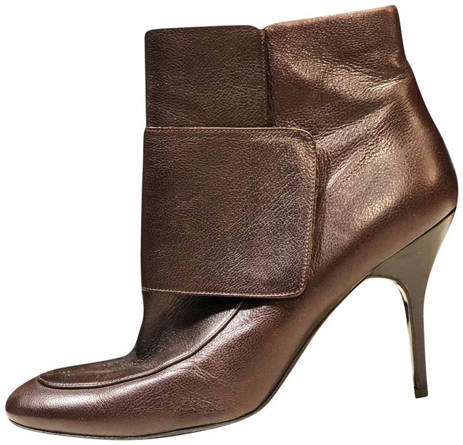 Lanvin Brown Leather Rounded Toe Ankle Wrap 41 10 9 Boots/Booties Size US 11 Regular (M, B) Lanvin Brown Leather Rounded Toe Ankle Wrap 41 10 9 Boots/Booties Size US 11 Regular (M, B) Image 1