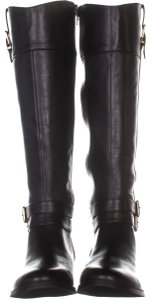 0649c33b4bd Black Nessiil Wide Calf Knee High Suede Boots Booties Size US 10 ...