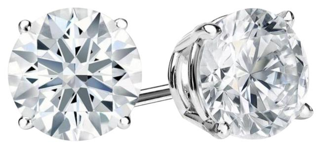 White Gold 1.00 Total Carat Weight Round Diamond Earrings White Gold 1.00 Total Carat Weight Round Diamond Earrings Image 1