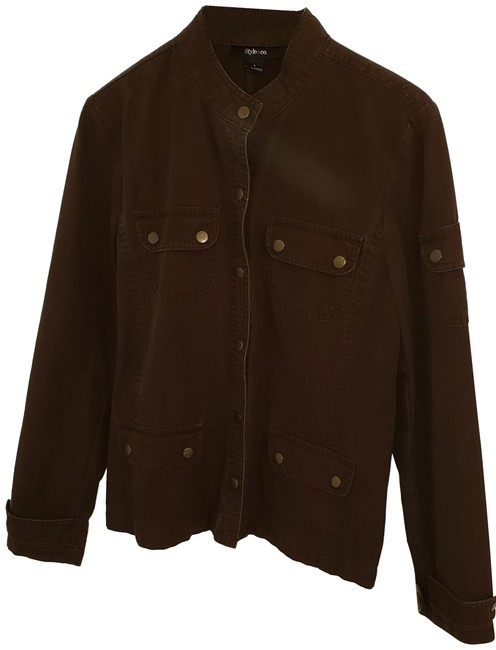 Preload https://img-static.tradesy.com/item/24949640/mossimo-supply-co-brown-military-style-jacket-size-10-m-0-1-650-650.jpg