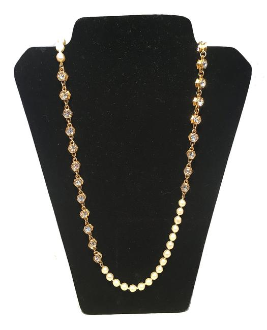 Chanel Gold Vintage Pearl and Crystal Beaded Necklace Chanel Gold Vintage Pearl and Crystal Beaded Necklace Image 1