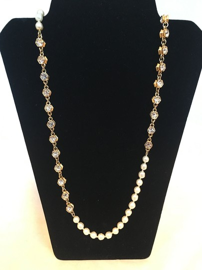 Chanel Chanel Vintage Pearl and Crystal Beaded Necklace Image 1