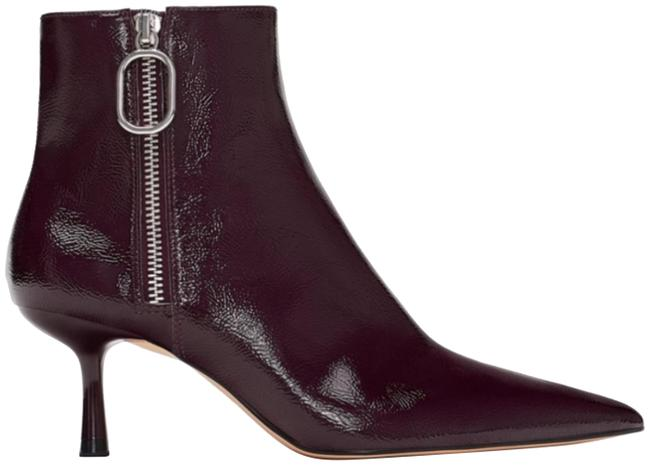 Item - Burgundy Patent Finish Ankle Boots/Booties Size EU 37 (Approx. US 7) Regular (M, B)