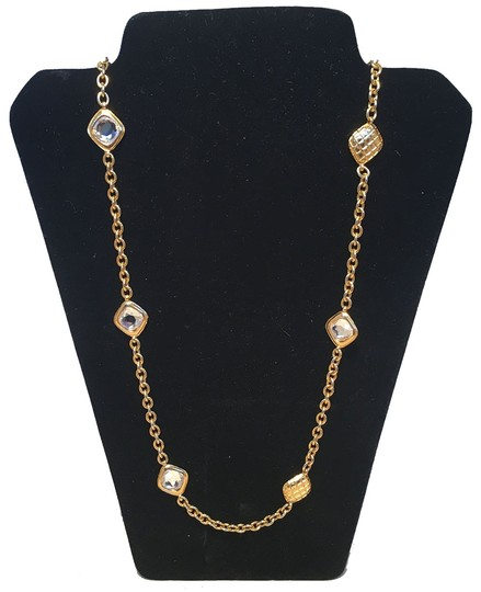 Preload https://img-static.tradesy.com/item/24949935/chanel-gold-vintage-chain-link-long-with-square-crystal-beads-necklace-0-0-540-540.jpg