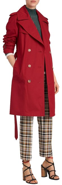 Item - Red Crambeck Long Double-breasted Coat Size 10 (M)