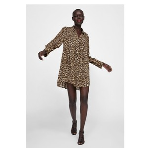 656a47d651d5 Zara Leopard New Animal Print Oversized Blouse Size 8 (M) - Tradesy