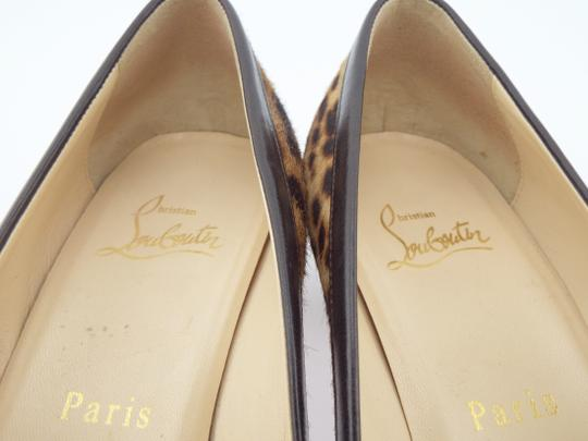 Christian Louboutin Animal Print Pony Hair Low Heel Pigalle Cl Leopard Pumps