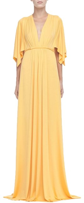Item - Yellow Kimono XS Sleeve In Quince Long Casual Maxi Dress Size 2 (XS)