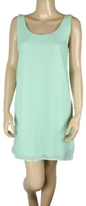 Dainty Hooligan Mint Sheer Open Back Shift Bow Dress