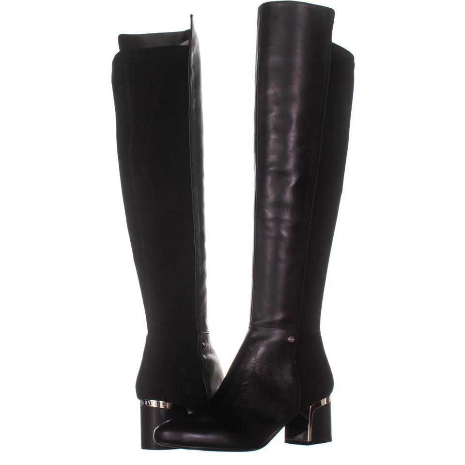 4abe1552244 DKNY Black Cora Low-heel Knee High 908   40 Eu Boots Booties Size US ...