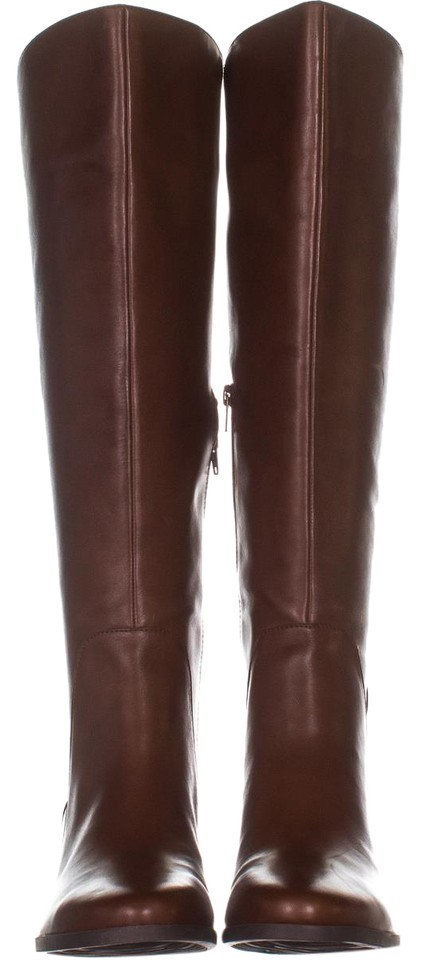 Anne Klein Brown Jelaw Wide Calf Knee High 883 Dark Cognac Boots