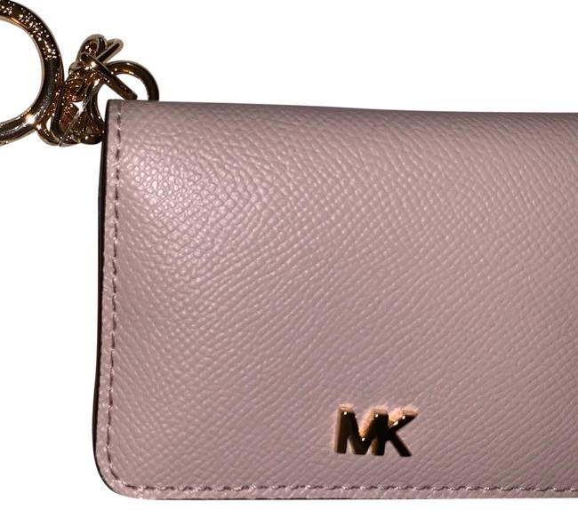 Michael Kors Collection Pink Key Ring Card Holder Wallet Michael Kors Collection Pink Key Ring Card Holder Wallet Image 1