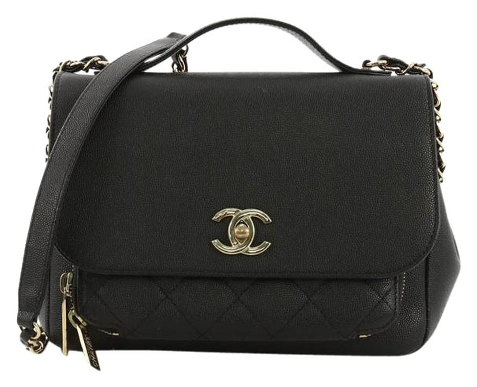 c1cfc028f2af Chanel Classic Flap Business Affinity Quilted Caviar Small Black ...