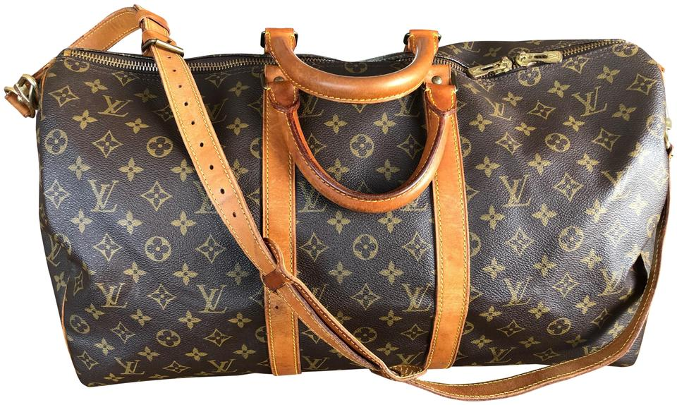 792d47d6325ea Louis Vuitton 50 50 Lv Bandouliere 50 Lv Bandouliere Brown Monogram Travel  Bag ...