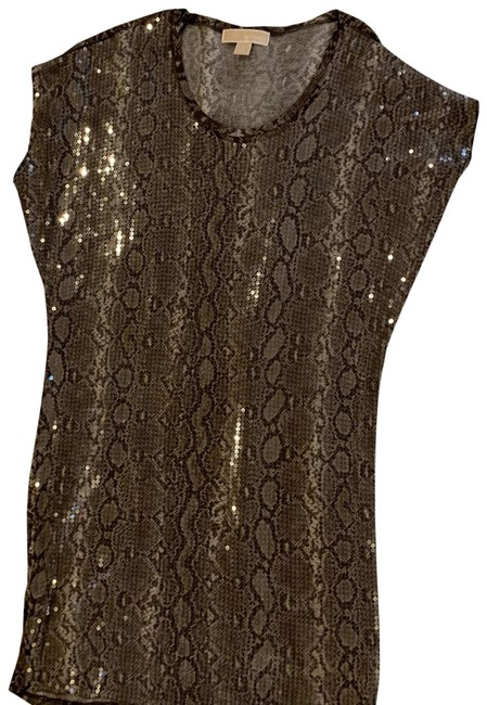 Item - Brown Sequins Snakeskin Mini Short Night Out Dress Size 4 (S)