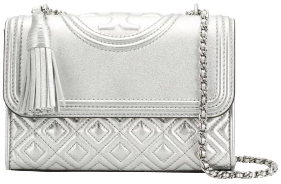 8fd8d068bc33 Tory Burch Fleming New Purse Small Convertible Shoulder Silver ...
