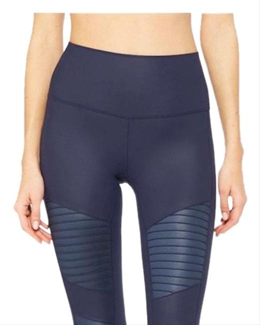 Item - Navy High Waisted Moto In Activewear Bottoms Size 00 (XXS, 24)
