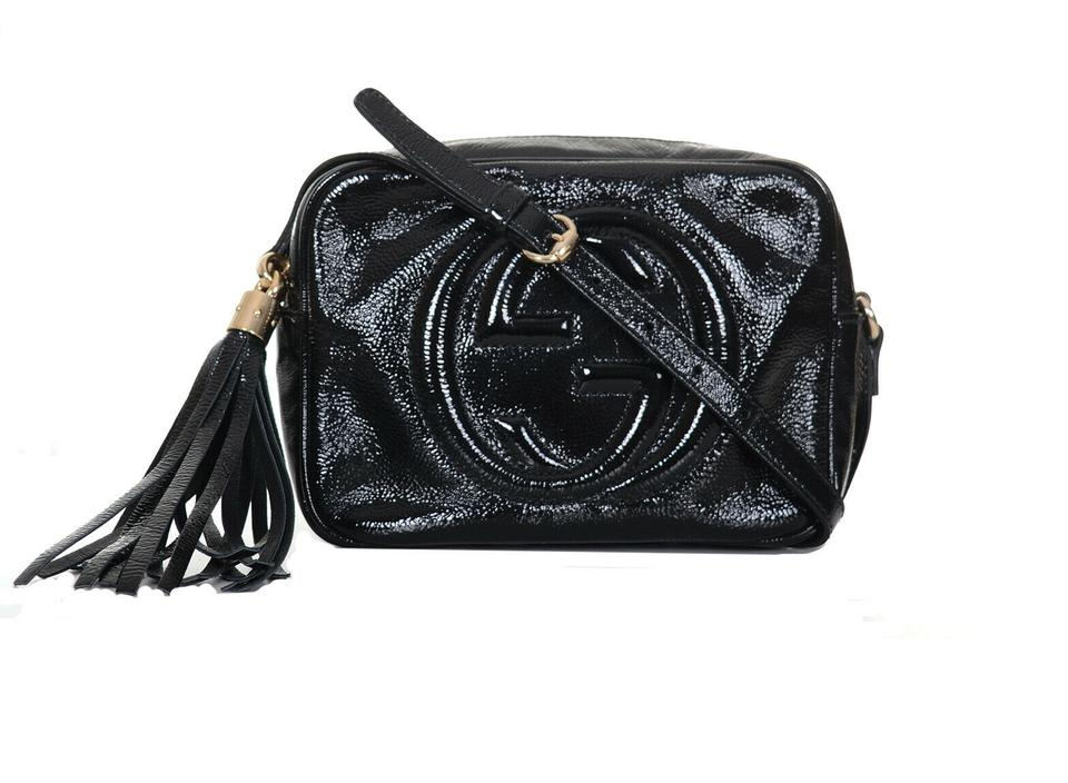 a1137dca18f Gucci Soho Gg Disco Purse Black Patent Leather Shoulder Bag - Tradesy