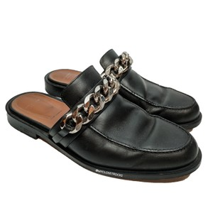 Givenchy Chain Leather Slides Black Mules