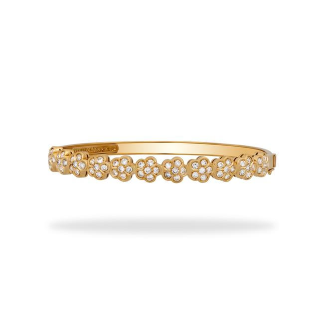 Item - Gold 18k Yellow Diamond Trefle Length: 6.5 Bracelet