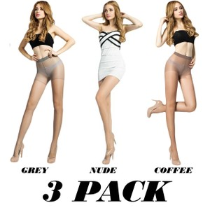 Vecceli Italy 3 Pair Pack Ultra Sheer Stockings B-302