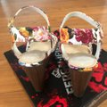 Fergalicious by Fergie White Floral Willa Sandal Wedges Size US 6 Regular (M, B) Fergalicious by Fergie White Floral Willa Sandal Wedges Size US 6 Regular (M, B) Image 4