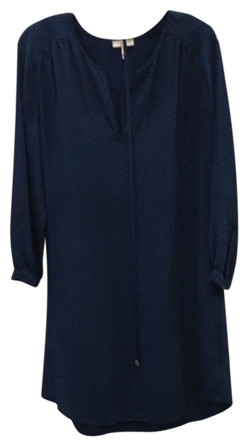 Item - Black and Blue 3406-d1897 Mid-length Short Casual Dress Size 4 (S)