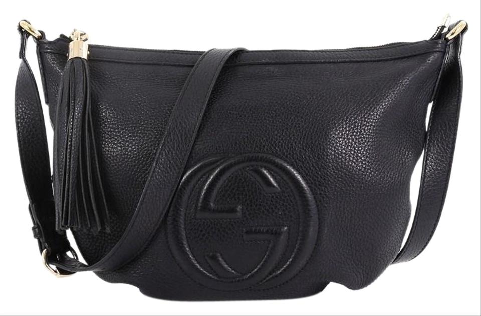 35744af313b Gucci Soho Messenger Small Black Leather Cross Body Bag - Tradesy