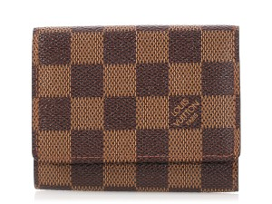 Louis Vuitton Damier Ebene Coated Canvas Card Case