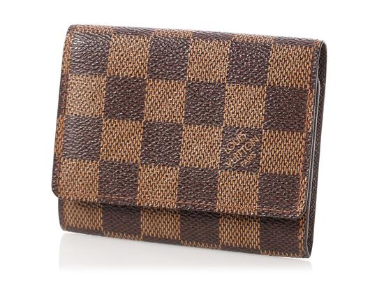 Louis Vuitton Damier Ebene Coated Canvas Card Case Image 1