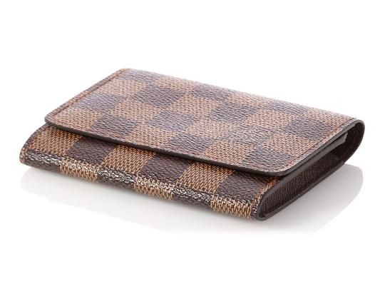 Louis Vuitton Damier Ebene Coated Canvas Card Case Image 5