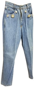 Hype Pearls Blue Boot Cut Jeans-Medium Wash